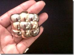 Silver and gold cushion pin