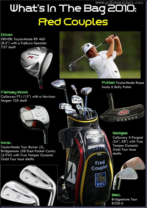 whats in the bag Fred Couples 2010