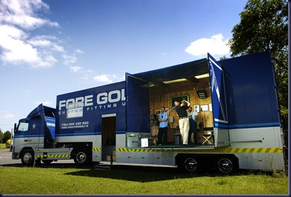13 July 2006; PGA Professional Martin Leung has his swing checked by Don and Derek Murray, from the Four Golf mobile Technical Centre. Red Lane Driving Range, Newhill, Naas, Co. Kildare. Picture credit: Matt Browne / SPORTSFILE *** NO REPRODUCTION FEE ***