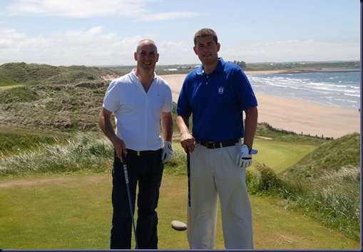 doc with participant Brian Finnerty at Doonbeg