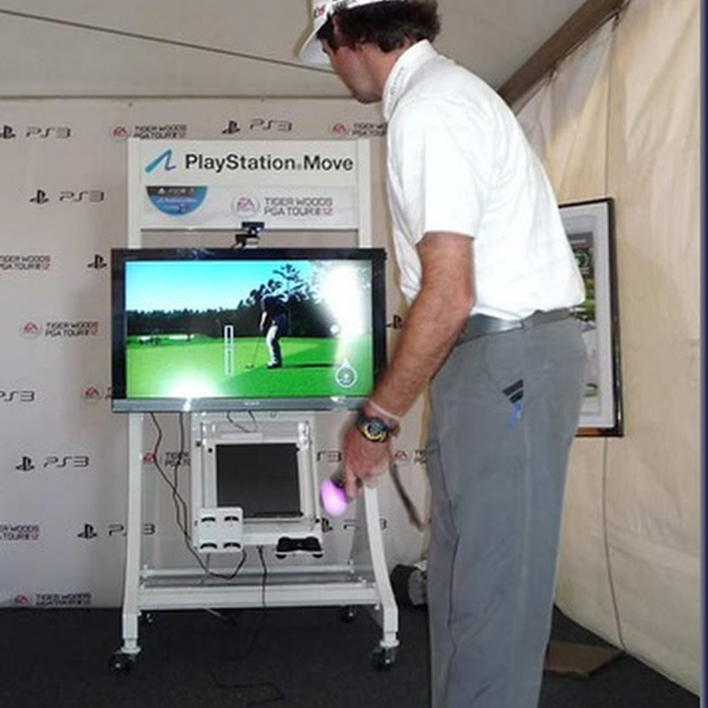 Bubba trying out EA Sports Tiger Woods 12: The Masters