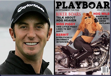 dustin johnson miss piggy funny pic