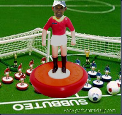padraig harrington golf  funny subbuteo finished pic