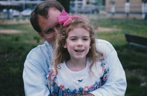 Lauren with her daddy