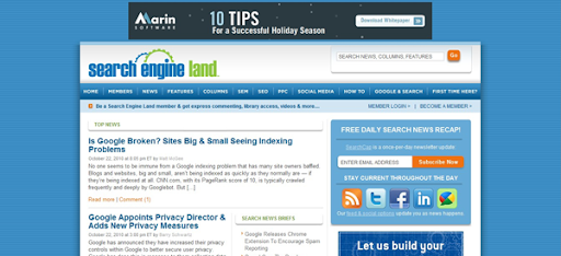 search engine land: search engine optimization