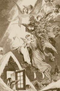 Christ child descends with the presents