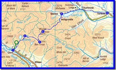 TGO Challenge 2010 - Day 12 - Plan