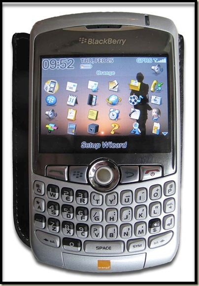 The BlackBerry Curve 8320 Smartphone and pouch