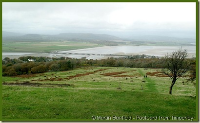 View towards the Kent estuary from near the summit of Arnside Knott