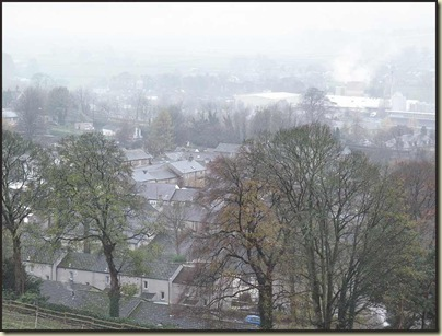 The town of Settle was shrouded in mist
