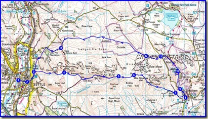 Our route, 23 km, 830 metres ascent, 7 hours