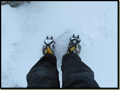 First crampons of the winter