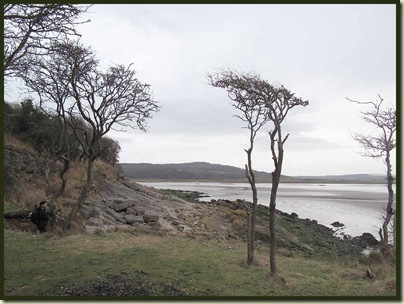 Walking into the easterly wind near Jenny Brown's Point