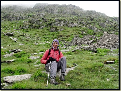 Marian, on the lower slopes of Catstycam