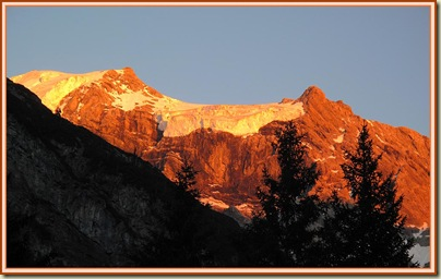 Sunset over the Ortler, from Trafoi