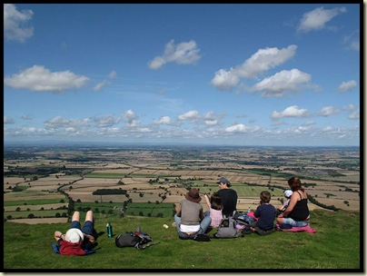 A view from The Wrekin on a sunny day