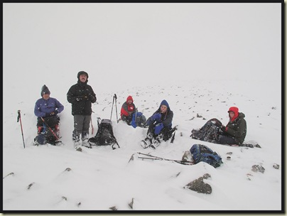 Lunch by the summit of Creag nan Gabhar