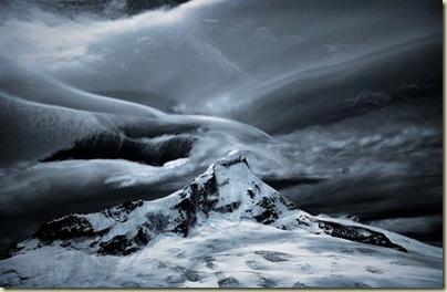 Storm clouds over Mt Aspiring