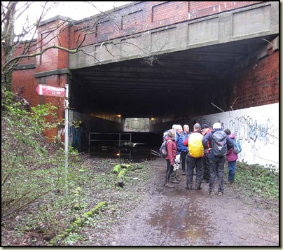 Bridge or tunnel? One of many crossing of the East Lancs Road