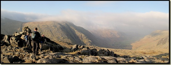Borrowdale panorama from Seathwaite Fell