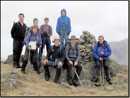 On the summit of Hard Knott - 19/3/11