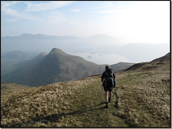 Poor Michael sets off from Maiden Moor towards Cat Bells, at a cracking pace...