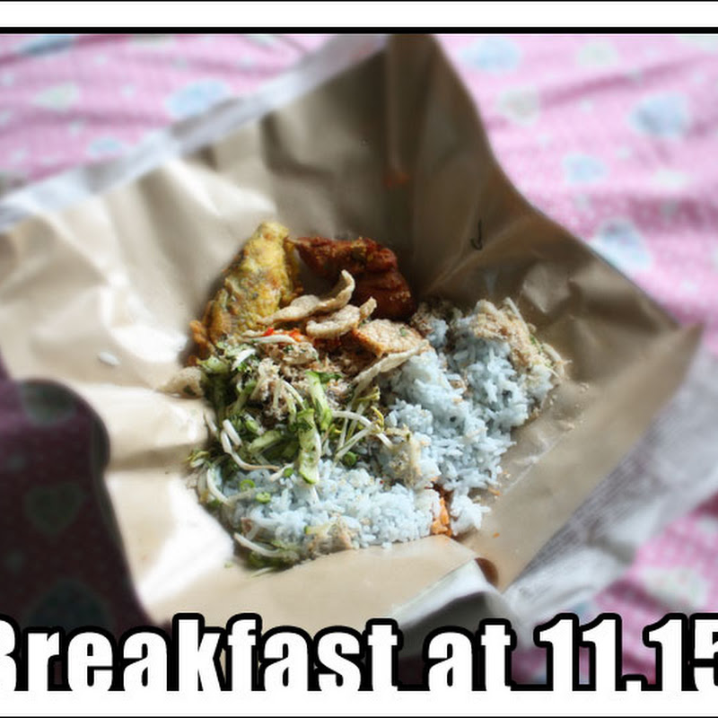 Breakfast today at 11.15am