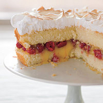 Raspberry-Lemon Meringue Cake