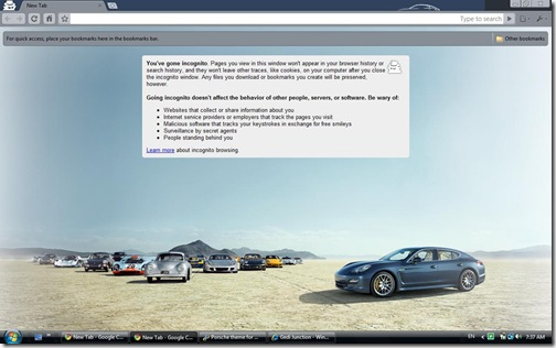 porsche theme google chrome