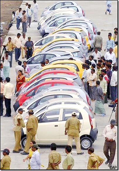 tata nano hyderabad rail dockyard grabs eyeballs