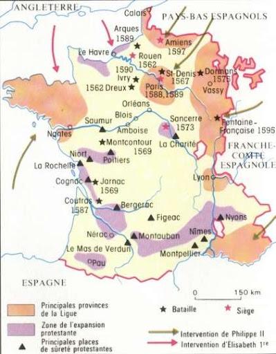 Resultado de imagen de guerras de religión en francia