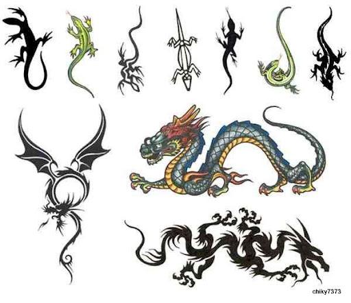 tatuajes y dibujos de dragones. dibujos para tatuajes de dragones