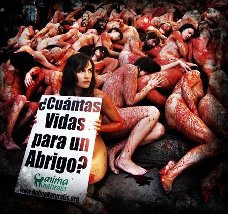 contra el uso de pieles animales
