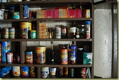 Closeup Kitchen Shelf