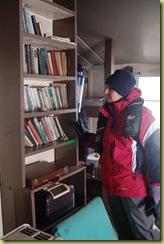 Pat examining Library