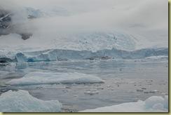 Ioffe dwarfed by glacier