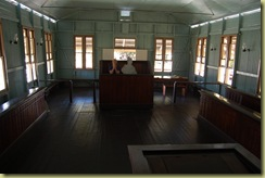 Inside court house