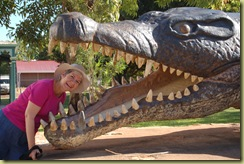 Nana Pat being eaten by crocodile