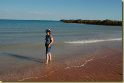 Paddling in the Indian Ocean
