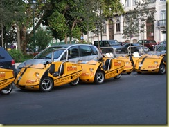Yellow taxi bike cars