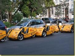 Yellow taxi bike cars