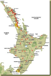 North Island to Rawene