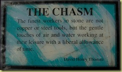 Chasm Quotation