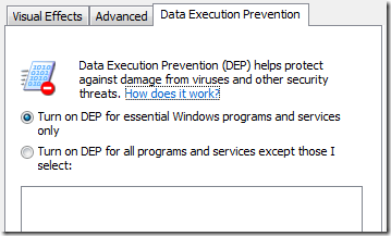 dataexecutionprevention