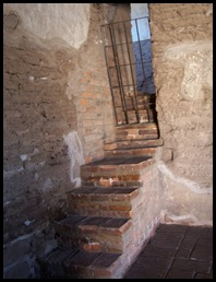 steps in sacristy