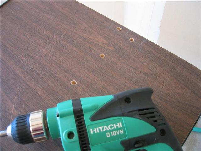 Folding Workbench - Drilling the Holes
