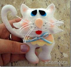 artemelza - gato de feltro