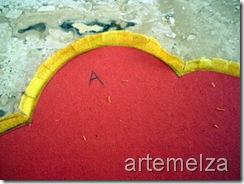 artemelza - flor em hexágono