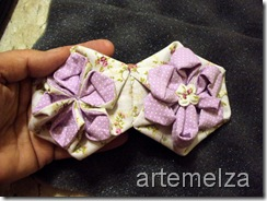 artemelza - flor em hexagono regular
