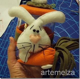 artemelza - coelho de feltro